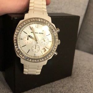 Brand new white Michael Kors watch